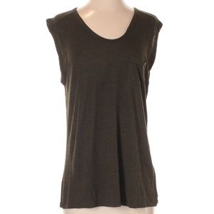 T by Alexander Wang Olive Green Sleeveless Top